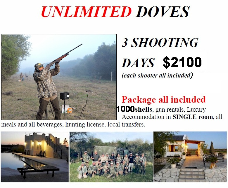CONTACT US FOR A DOVE SHOOTING LIFETIME EXPERIENCE